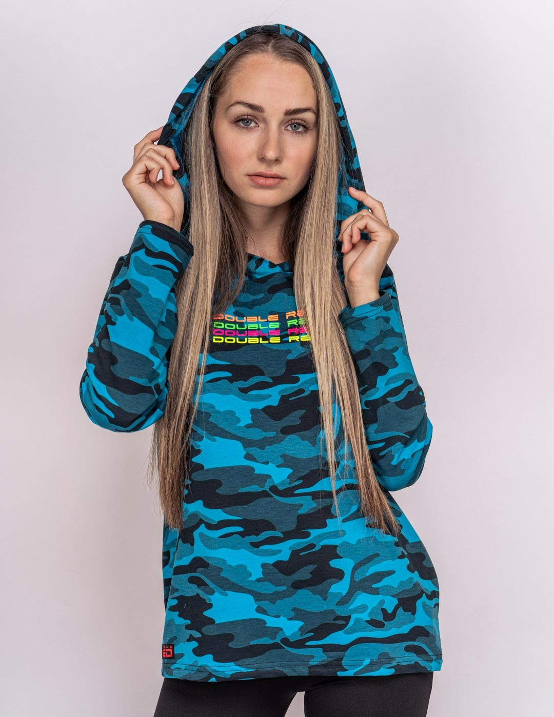 Hoodie Neon Collection Blue Camo