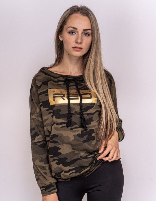 Sweatshirt Green Camo Collection GOLD