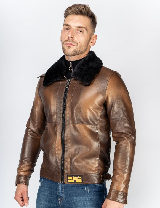 MAGNUS Leather Jacket Brown