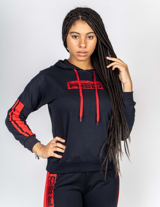 Tracksuit SPORT IS YOUR GANG Black/Red