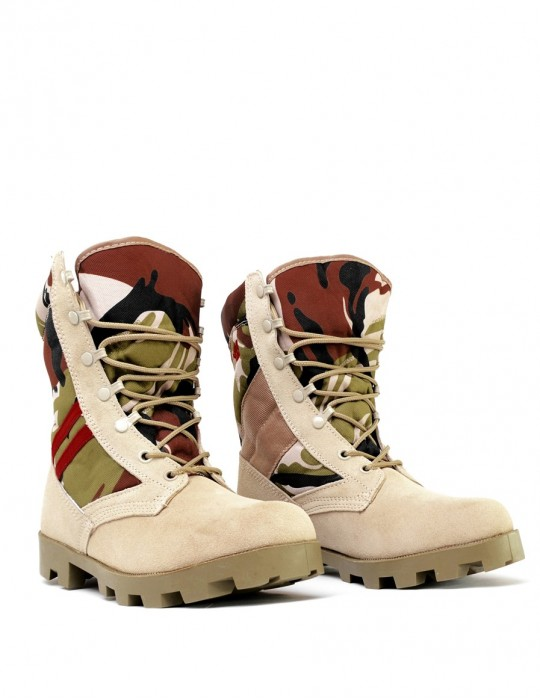 Boots Camouflage Red Desert