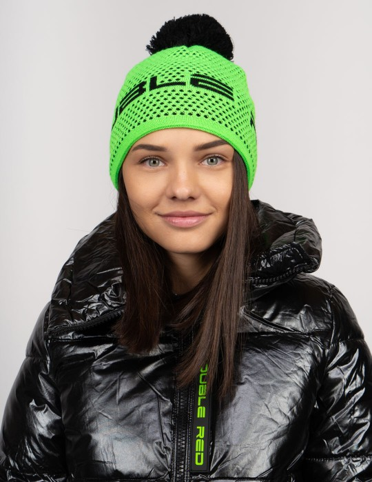 NISEKO Neon Green Unisex Winter Cap