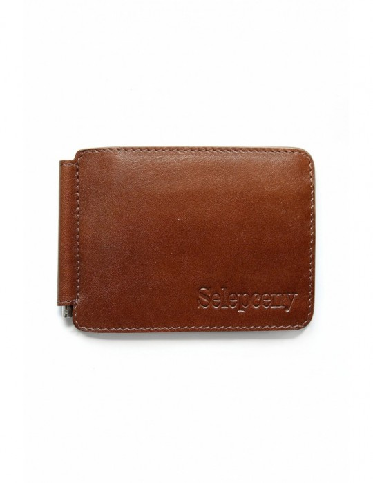 SY SELEPCENY BROWN 100% GENUINE LEATHER BILLFOLD WALLET