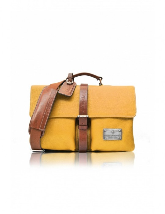 SIGNATURE ALTER YELLOW HANDMADE 100% GENUINE LEATHER BAG