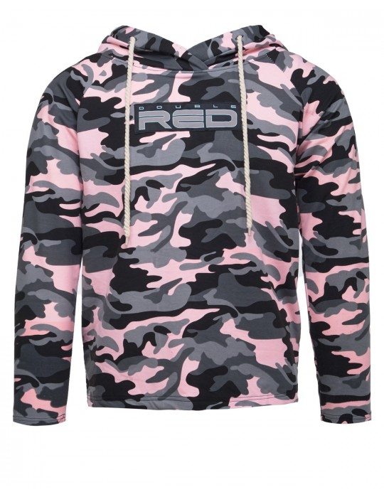 Hoodie Neon Streets Collection Camo Pink