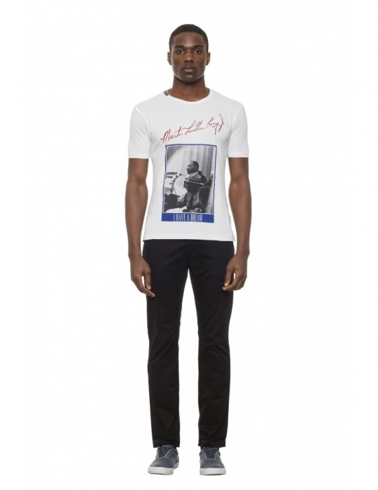 M.L.KING SCREEN-PRINTED SUPER-SOFT STRETCH COTTON T-SHIRT