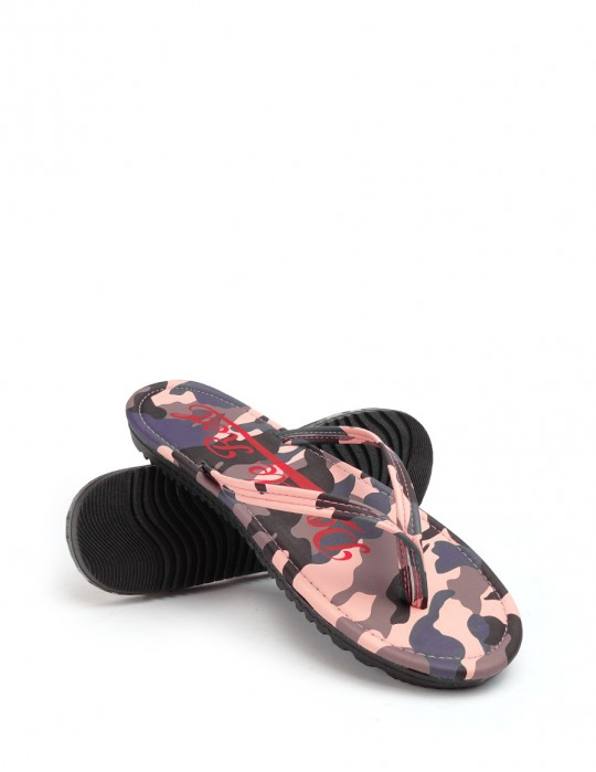 Slippers Camo Salmon