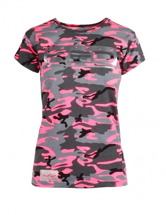 DR W T-shirt Gray Pink Camo