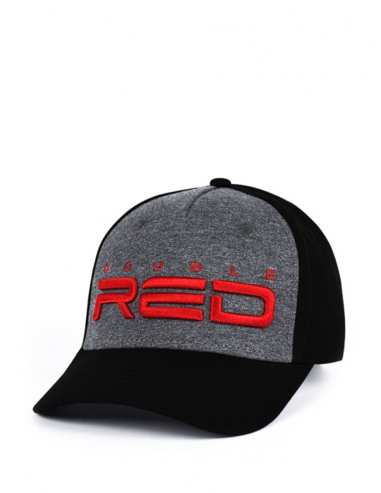 JERSEY DOUBLE RED 3D Embroidery Cap Gray/Black