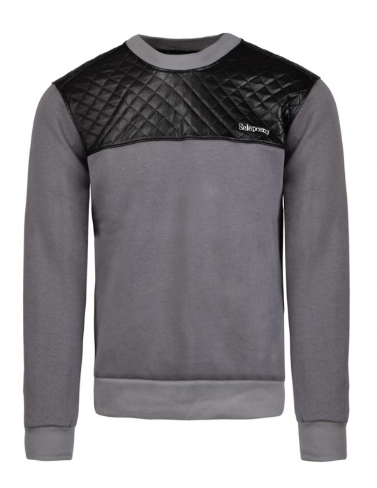 SELEPCENY Cotton Sweatshirt Gray