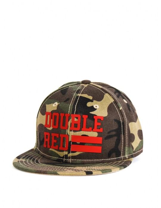 Snapback Cap UNIVERSITY OF RED Green Camo