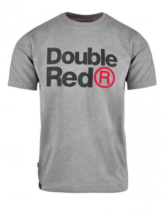 DOUBLE RED Trademark T-shirt Gray
