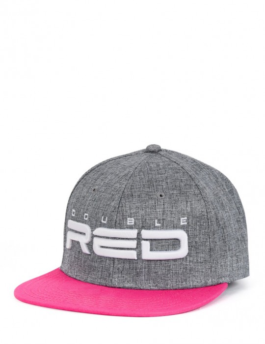 STREETGIRL DOUBLE RED Snapback Melange 3D Embroidery Gray/Pink