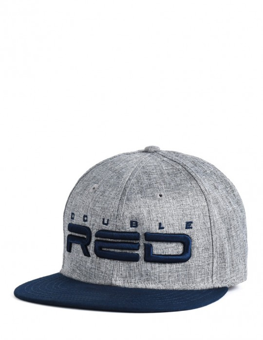 STREETHERO DOUBLE RED Snapback Melange 3D Embroidery Gray/Blue
