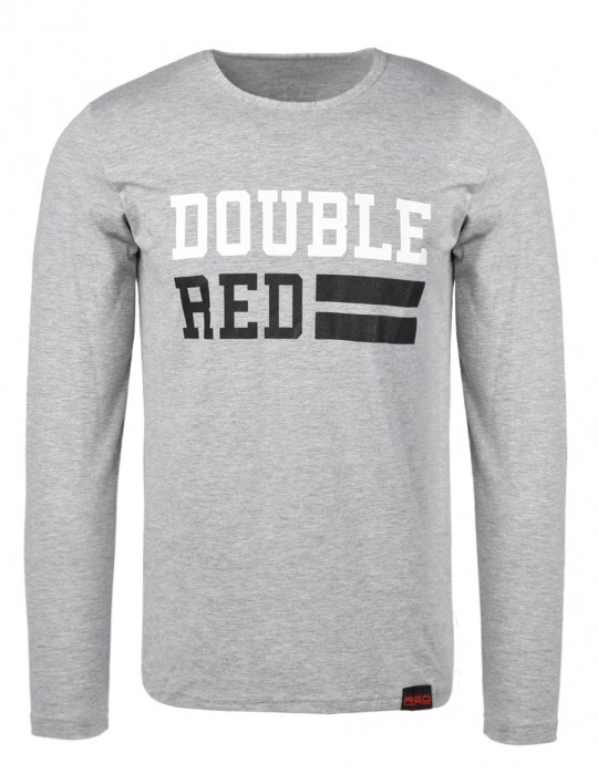 UNIVERSITY OF RED long sleeve Gray T-shirt