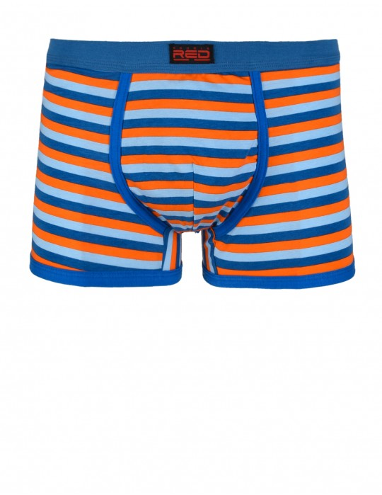 RED BOXER Stripes Navy Red