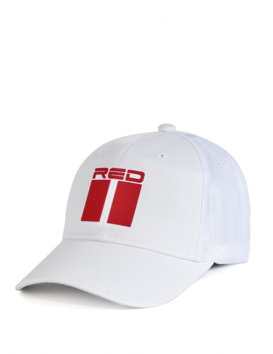 DOUBLE RED 3D White Cap