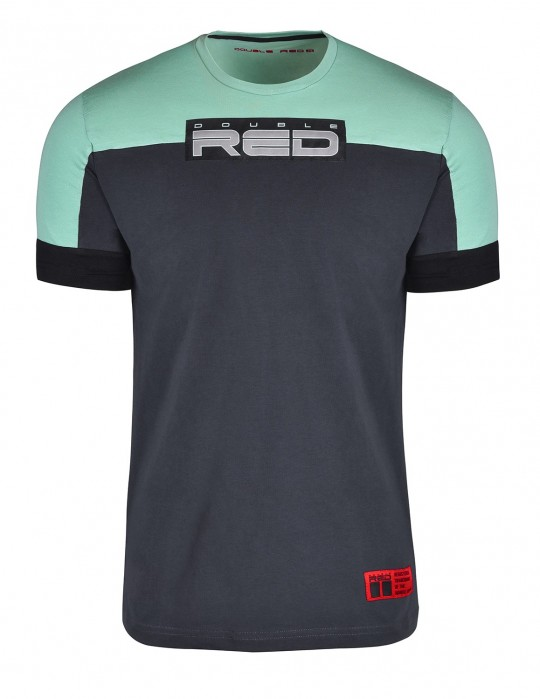 T-shirt GLORIOUS Mint/Dark Grey