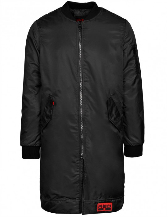 THE PUNISHER Long Size Bomber Jacket Black