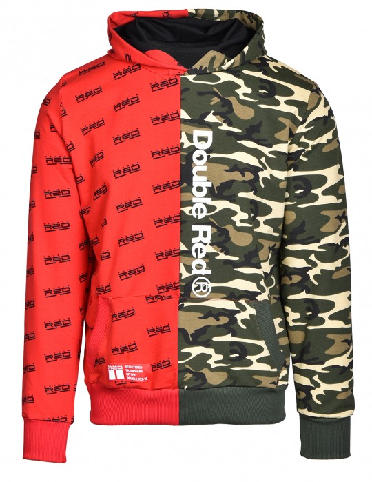 Hoodie DOUBLE FACE Red/Green Camo