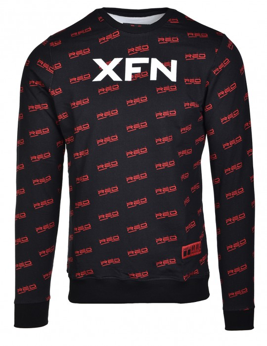 Sweatshirt XFN Fighters Club/DOUBLE RED Full Logo Black
