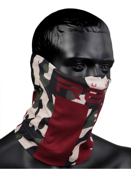 RED SQUAD Snood Green Camo
