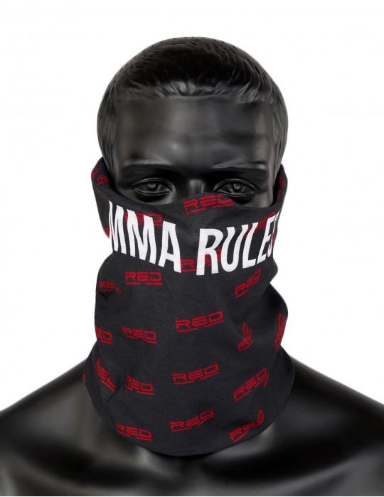 MMA RULES Full Logo Snood Black