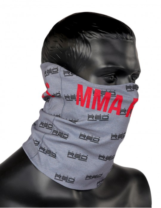 MMA RULES Full Logo Snood Grey