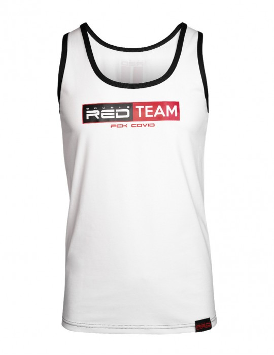 FCK Covid RED TEAM Tank Top White Special