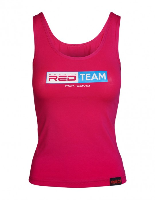 FCK Covid RED TEAM Tank Top Pink