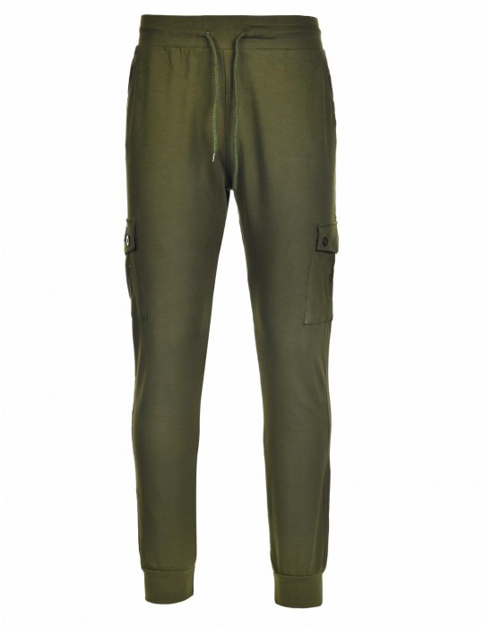 Sweatpants Side Pocket Green